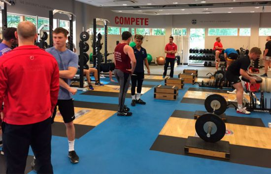 Edinburgh University Rugby Gym Training